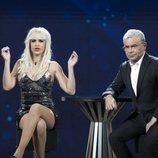 Ylenia Padilla junto a Jorge Javier Vázquez en el plató en la Gala 10 de 'GH Dúo'