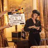 Amaia Salamanca en el rodaje de 'A pesar de todo'
