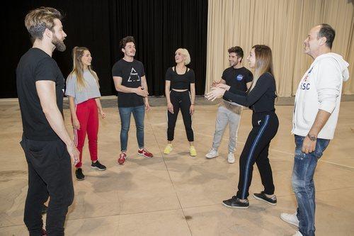 Ensayos de la actuación de Miki Núñez y 'La venda' para Eurovisión 2019