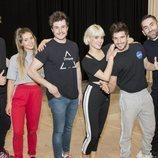 Miki Núñez ensaya junto a los bailarines para su actuación en Eurovisión 2019