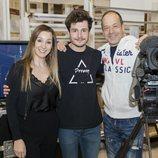 Mamen Márquez junto a Miki Núñez y Fokas Evagelinos en los ensayos de Eurovisión 2019