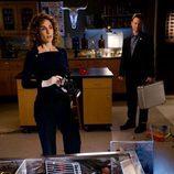 Melina Kanakaredes y Gary Sinise en 'CSI: Nueva York'