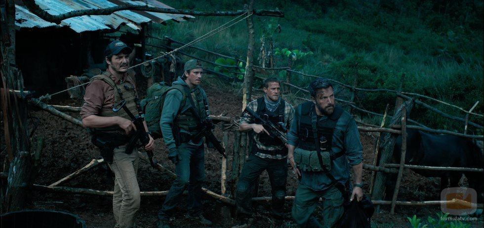 Catfish, Ben, Ironhead y Redfly en 'Triple Frontera'