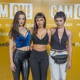 Carla Díaz, Aria Bedmar y Laura Moray en la presentación de 'Cam On'