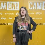 Carolina Iglesias (Percebes y Grelos) en la presentación de 'Cam On'