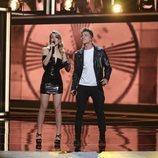 Nerea Rodríguez y Raoul Vázquez en la gala 2 de 'La mejor canción jamás cantada'