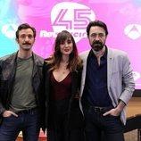 Marina San José, Iván Marcos e Israel Elejalde en la presentación de '45 revoluciones'
