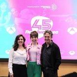 Carmen Gutiérrez, Guiomar Puerta y Pere Ponce en la presentación de '45 revoluciones'