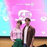 Guionmar Puerta y  Eudald Font en la presentación de '45 revoluciones'