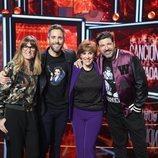 Roberto Leal junto al jurado de la cuarta gala de 'La mejor canción jamás cantada'