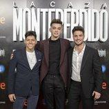 Alfonso, Dave y Joan Garrido ('OT 2018') en la premiere de 'La Caza. Monteperdido'