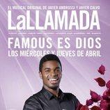 Cartel que anuncia la participación de Famous como Dios en