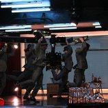 Los strippers de 'Toy Boy', serie de Antena 3, bailan durante el rodaje