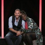 Antonio Tejado y Carolina Sobe, en la sala de expulsión durante la Gala 11 de 'GH Dúo'