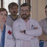 El equipo de la Clínica Hispalis en la quinta temporada de 'Allí abajo'