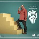 Paco Tous como Epi en un póster de 'Allí abajo'