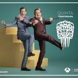 Los Benjumea en un póster de la quinta temporada de 'Allí abajo'
