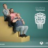 La cuadrilla de Iñaki en su póster promocional de la temporada 5 de 'Allí abajo'