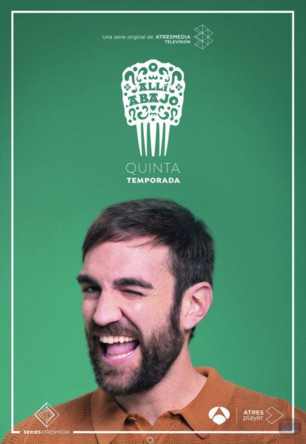 Jon Plazaola como Iñaki en su póster promocional de la quinta temporada de 'Allí abajo'