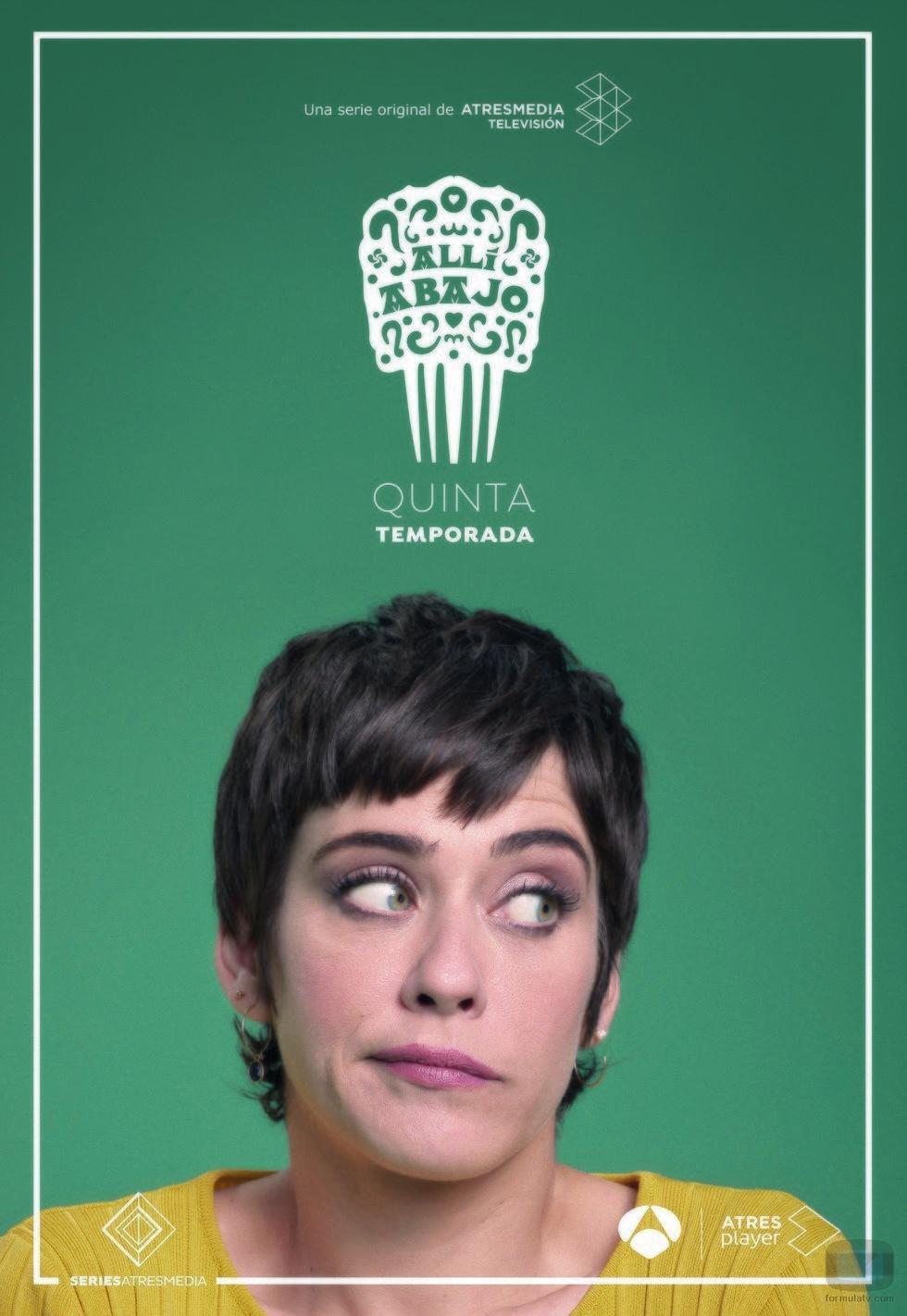 María León como Carmen en su póster promocional de la quinta temporada de 'Allí abajo'