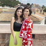 Paula Gallego y Carmen Climent posan en el Festival de Málaga