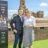 Pablo Rivero y Paloma Bloyd posan en el Festival de Málaga