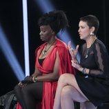 Carolina Sobe y Maria Jesús Ruiz intercambian opiniones durante la Gala 12 de 'GH Dúo'