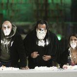 Sofia Suescun, Juan Miguel y Kiko Rivera, en la prueba de inmunidad de la Gala 12 de 'GH Dúo'