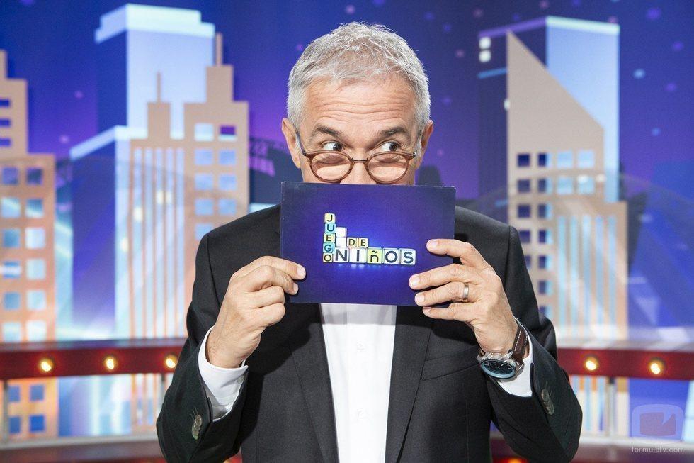 Xavier Sardà, presentador de 'Juego de niños'