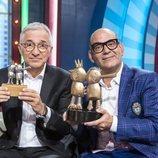 Xavier Sardà y José Corbacho, en el plató de 'Juego de niños'