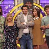 El jurado de 'MasterChef 7' junto a Toñi Prieto y Macarena Rey
