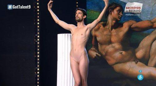 """Adrián Pino """"El novio de Venus"""", completamente desnudo en 'Got Talent'"""