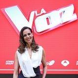 Eva González, presentadora de 'La Voz', en la rueda de prensa de los Directos