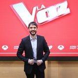 Juanra Bonet en la rueda de prensa de los Directos de 'La Voz'