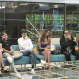 Los concursantes de la Gala 13 de 'GH Dúo', reunidos en el salón