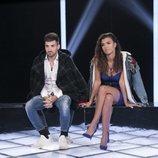 Alejandro Albalá y Sofía Suescun en la sala de expulsión en la Gala 13 de 'GH Dúo'