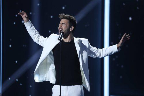 Agoney, en la séptima gala de 'La mejor canción jamás cantada'