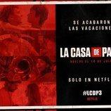 Postal promocional de la parte 3 de 'La Casa de Papel'
