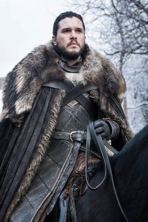 Jon Nieve, a caballo, en la octava temporada de 'Juego de Tronos'