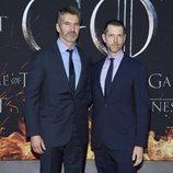 David Benioff y Dan Weiss, creadores de 'Juego de Tronos', en la premiere de la temporada final