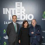 Silvio González, Carmen Calvo y Javier Pons, en el programa 2.000 de 'El Intermedio'