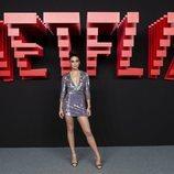 María Pedraza, en la inauguración del centro de producción de Netflix en Madrid