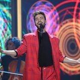 Agoney, en la Gala final de 'La mejor canción jamás cantada'