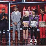Agoney, Alba Reche y Marta Sango, en la Gala final de 'La mejor canción jamás cantada'