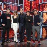 Noemí Galera, Tony Aguilar, Eva Hache, Roberto Leal y Jaime Altozano, en la Gala final de 'La mejor canción jamás cantada'