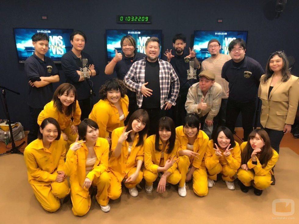 El equipo de doblaje de 'Vis a vis' en Japón posa