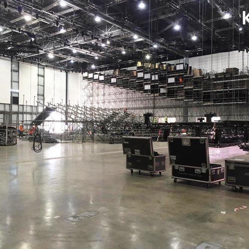 Montaje del escenario de Eurovisión 2019
