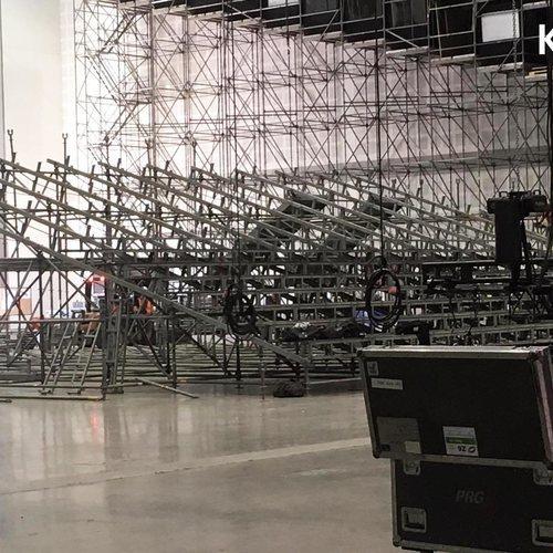 El escenario de Eurovisión 2019 en Tel Aviv, en construcción