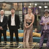 Kiko Rivera, Alejandro Albalá, María Jesús Ruiz y Juan Miguel en la Gala 1 de la final de 'GH Dúo'