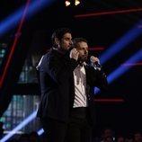 "Ángel Cortés y Melendi cantan ""Besos a la Lona"" en la gran final de 'La Voz'"